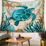 New Retro Ocean Sea Animal Tapestry Mandala Hippie Wall Hanging Decor Bedspread