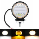 New 126W LED Work Light Yellow Beam Lamp DRL Amber Angel Eye Light For Car Motorcycle Off-road Truck