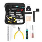 New 19 in 1 String Cutters Cleaner Repairing Maintenance Set Guitar Brass Tool Kit With Bag
