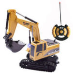 New BOCHENG TOYS 1/24 5CH Wireless Controlled Rc Car Die-cast Engineering Excavator Truck