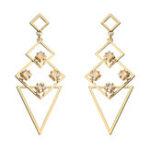 New JASSY® Luxury Geometric Long Ear Drop