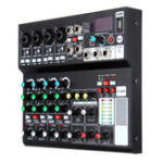 New Mini 8 Channel Bluetooth Audio Mixer Portable USB 48V Phantom Mixing Console Karaoke