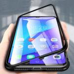 New Bakeey 360° Magnetic Adsorption Flip Metal Tempered Glass Protective Case for VIVO V11/ VIVO  V11 Pro