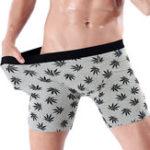 New Mens Sports Printing Cotton Elastic Casual Underwear