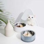 New FURRYTAIL Food Grade Antibacterial Stainless Steel Cat Food Bowl Detachable Pet Bowl