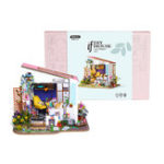 New Robotime DG11 Lily's Porch DIY Doll House 27*23*22CM With Miniature Furniture Gift Decor Collection