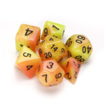 New 7 Pcs Luminous Polyhedral Dices Multisided Dices Dice Set With Dice Cup For RPG