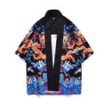 New Mens Chinese Dragon Vintage Ethnic Style Loose Cloak Coats