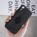 New Bakeey Happy Deer Ring Holder Bracket TPU+PU Leather Protective Case For iPhone XR 6.1 Inch