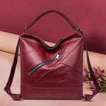 New Women Leather Handbag Vintage Multi-function Backpack