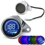 New Motorcycle Digital Odometer Speedometer Tachometer RPM Fuel Level Gauge MPH KM/H