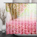 New Cherry Blossom 3D Fashion Pattern Bathroom Fabric Shower Curtain Home Decoration Waterproof