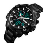 New SKMEI 1306 Sports Style Chronograph Waterproof Dual Digital