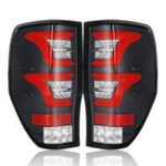 New LED Car Tail Light with Bulbs Wiring Blcak Cover for Ford Ranger Raptor T6 T7 PX MK1 MK2 Wildtrak 12-18