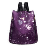 New Women Nylon Large-capacity Galaxy Pattern Shoulder Bag