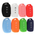 New 3Buttons Silicone Fob Remote Key Case Cover For Hyundai i30 IX35 Elantra Verna Tucson