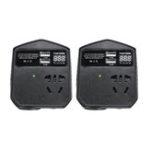New 200W 12V/24V To 220V Auto Power Inverter 2 USB 2 Universal Socket Modified Sine Wave Converter