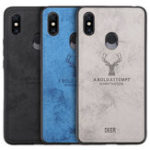 New BAKEEY Deer Shockproof Cloth&TPU Protective Case For Xiaomi Mi MIX 3