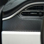 New 3-in-1 Carbon Fiber Pattern Car Interior Dashboard Stickers Wrap Decoration for Tesla Model X and S