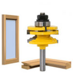New 8mm 1/2 Inch Shank Glass Door Rail And Stile Reversible Router Bit Cutting Wood Milling Cutter For Wood Tool Bits