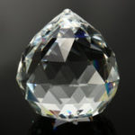 New 100mm Chandelier Clear Glass Crystal Round Faceted Ball Lamp Prism Drop Pendants Decorations