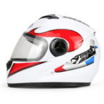 New BYB Motorcycle Full Face Helmet HD Anti-fog Lens Breathable Unisex Universal With Neck Protection
