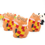 New Squishy Glasses Orange Cat 11.5CM Slow Rising Rebound Toys With Packaging Gift Decor