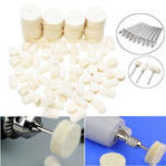 New 86pcs Wool Felt Polishing Buffing Waxing Pad Wheel Shank Set Conical Point Tools