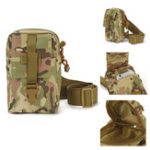 New Outdoor Tactical Large Capacity Zipper Cross Body Shoulder Bag Storage Pouch for iPhone Mobile Phone