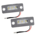 New Car White LED License Number Plate Lights Lamp for Audi A3 A8 D3 2002-2010