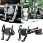 New Car Air Vent Windshield Suction Cup 360 Degree Rotation Car Phone Holder For iPhone Samsung Huawei Xiaomi