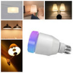 New AC100-240V E27 RGBW LED Bluetooth Music Speaker Light Bulb + 24Keys IR Remote Control