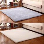 New Modern Non-slip Polyester Carpet Area Rug Bedroom Linving Room Floor Bath Mat