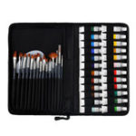 New H&B Propylene Pigment 24 Colors Pigment 15 Nylon Painting Brush Palette Set Portable Nylon Packaging