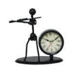 New Band Clock Sets Retro Wrought Iron Clock Personality Living Room Study Room Decor Desktop Watch Home Bedroom Decorative Clock