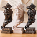 New Modern Resin Figure Statue Abstract Sculpture Craft Art Ornaments Home Office Decorations