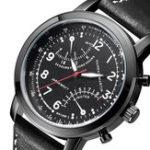 New Hannah Martin Men Leather Decorative Small Dial Quartz Watch