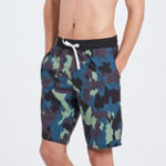 New Swimming Quickly Dry Hot Spring Camouflage Printing Shorts