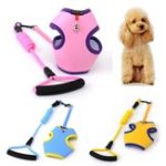 New Pet Puppy Dog Breathable Vest Harness Leash Lead Strap Pet Vest With Small Bell