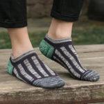 New Men's Casual Multicolor Cotton Invisible Boat Socks