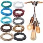 New 3M Vintage 0.75MM 2 Core Twist Braided Fabric Cable Wire Electric Cord For Pendant Light