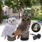New Solar Powered Owl LED Lawn Lamp Garden Decor Waterproof Landscape Light