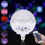 New AC100-240V E27 Voice Control Music Speaker Colorful LED Bluetooth Light Bulb for Stage Party