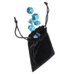 New Solid Metal Polyhedral Dices Antique Color Role Playing RPG Gadget 7 Dice Set With Bag