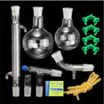 New 500mL 24/40 Lab Glass Distillation Distilling Apparatus Laboratory Glassware Kit