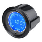 New 12V 2inch 52mm 7Color LCD Electronic Digital LED Voltage Gauge Meter