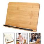 New Portable Wooden Bookshelf Stand Bible Cookbook Music Book laptop Holder Folding Rack Reading Tool