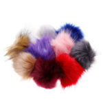 New 10Pcs/Set 12CM/4.72 Inch Faux Fox Fur Fluff Balls for Knitted Hat Accessories Key Chain Scarf DIY Pendant Accessories