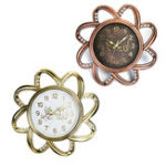 New Classic Antique Flower Shaped Plastic Islamic Wall Clock Home Room Decor