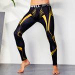 New Mens Shapewear Printing Quick Dry Slim Sports Bodybuilding L
